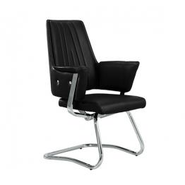 Посетителски стол OF 6031С - черна кожа