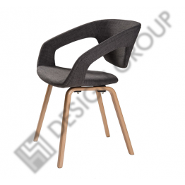 Кресло WDG - 020S - тапициран,  сив