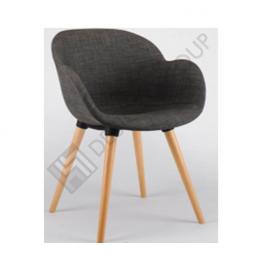 Кресло WDG - 027S - тапициран, сив