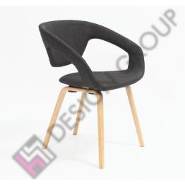 Кресло WDG - 020S - тапициран, тъмно сив