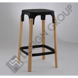 Бар стол WDG - 005 - черен, бук