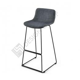 Бар стол WDG - 098S - тапициран, сив