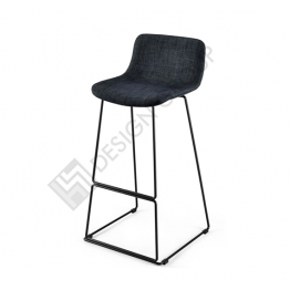Бар стол WDG - 098S - тапициран, тъмно сив