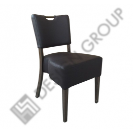 Стол F 181 - кафява кожа