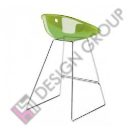 Бар стол 906 GLISS H80 прозрачно зелен