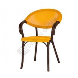 Стол с подл. PP903 - кафяв/жълт