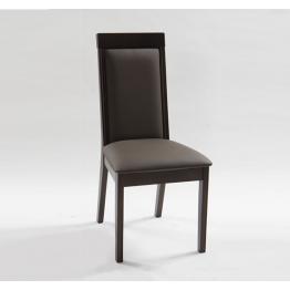 Стол NEW YORK - венге, кафява кожа