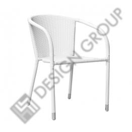 Стол с подлакътник E008 бели възли