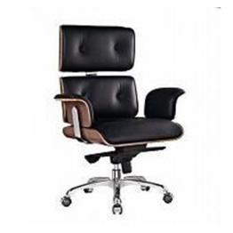 Президентски стол S6809 - ест.кожа, черен