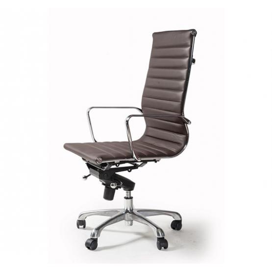 Офис стол S604 - кафява ест.кожа