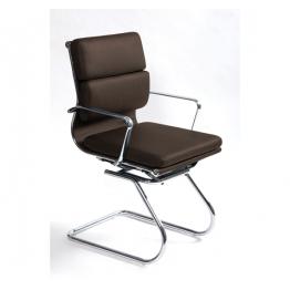Посетителски стол S606С тъмно кафяв