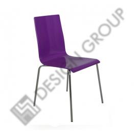 Стол  Lilly polymer 3457 - лилав хром