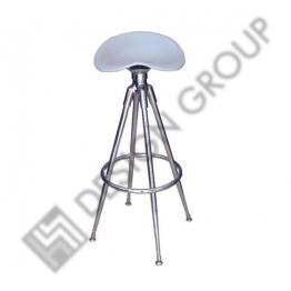 Бар стол М-407 - сребриста полипр.седалка