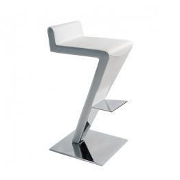 Бар стол COCO - бяла кожа
