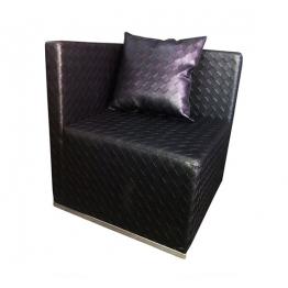 Ъгъл от модулен диван  SUGAR - черна кожа