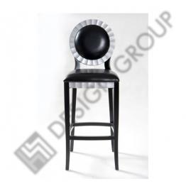 Бар стол E015 черна кожа