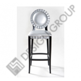 Бар стол E015 сребриста кожа