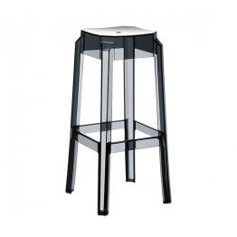 Бар стол FOX H75 - прозрачно черен