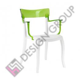 Стол HERA - бяла рамка и зелен гръб