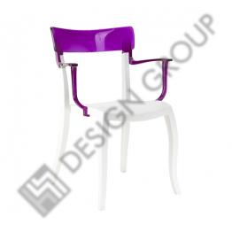 Стол с подл. HERA -бял рамка и лилав гръб