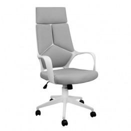 Офисен Стол DG1054 Сив Плат с Бяла Рамка