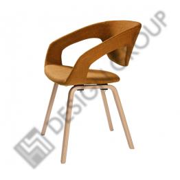 Кресло WDG - 020S - тапициран, капучино